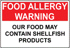Shellfish (including crab, lobster, shrimp and mussels) is one of the more common food allergies.
